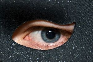 Masked eye by Quinnphotostock