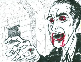 Christopher Lee by javierhernandez