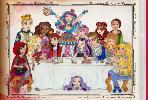 Ever After High Tea Party by WhiteHeather