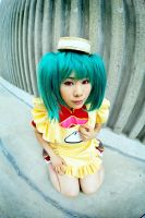 Ranka in fish eye lens by Jesuke