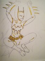 Batgirl Begins Ink Sketch by The-Rogue-Scarecrow