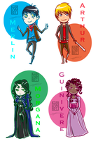 Merlin Chibies by loveHinaSasu