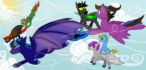 Request: A Big Silly Flock by ForeshadowART