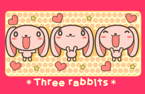 Three rabbits by wachachai