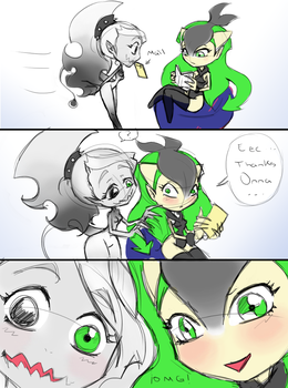 Onna and Renna - Reaction to fanart by Yukyona-G-R