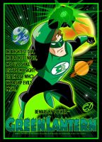 Green Lantern's Bright Light by CHUCKAMOKK