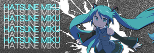 Hatsune Miku Banner by DakotaBailey