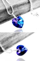 Swarovski Crystal Heart Necklace and Earrings by crystaland