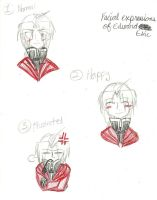Ed's Facial Expressions 1-3 by KingdomHeartsgal