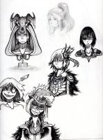 Single Page Sketches by MadcapMarquess