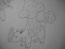 Fake Pokemon Rhinoak by EpicFail222