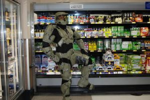 Master Chief at Walmart 4 by the-pooper