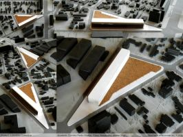 Collective housing model 1:500 by AzFaka