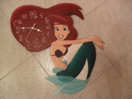 little mermaid wall clock by Macca4ever
