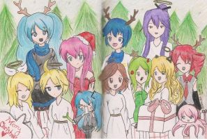 A Very Vocaloid Christmas by LemonLimeCrime