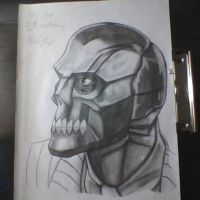 old black mask drawing by Darkbloodangelszero