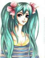 MIKU in Watercolor by SinEngraved