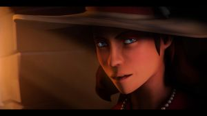 Female scout model wich cool hat test. by Heavy-shtopor