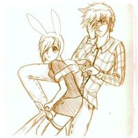 Fionna and Marshall Lee Sketch by inustwin6789