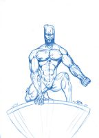 BLUE SKETCH 3 silver surfer by Mich974