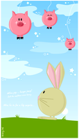 When pigs ... bungee jump by imreyin