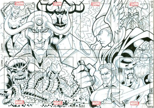 thor puzzle by Tikigeo