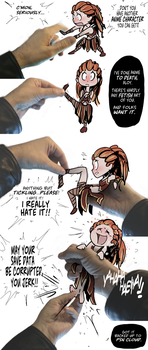 Aloy Gets a 4th Wall Tickling by PawFeather