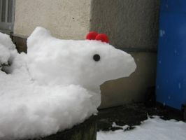 Snow Chicken by ankewehner