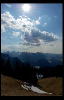 Sunshine on Bavarian Alps by LostRomantic