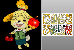 Isabelle (Animal Crossing) Papercraft +Unfold Info by Sabi996
