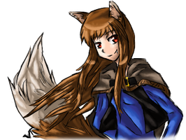 Holo the Wise Wolf by VikaVolttail