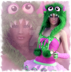 Little Monster In Green by CaperGirl42