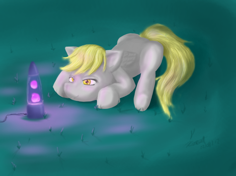 Derpy and her Lava lamp by madcat-eva00