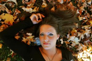 Laying In The Leaves by JonathanHasenfus