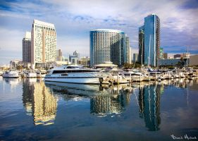 San Diego Skyline by Recalibration