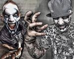 Twiztid Abominationz Facepaint by clowndevilboy