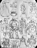 12 new characters by SnowWolf10