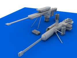 SRG-X25 Rail Gun - Untextured by Hailfire6