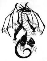 tattoo - dragon design 2 by rogue-rpz
