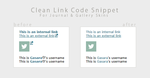 Clean Link Code Snippet by Gasara