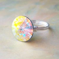 Crystal AB Rivoli Ring by lulabug