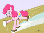 Spring Cleaning Pinkie Pie Style by HalflingPony