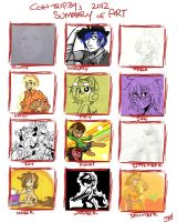 2012 Summary of Art by Coin-Trip39