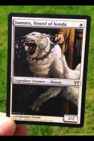 Isamaru, Hound of Konda MTG Altered Art Card by monsterfulstudio
