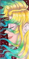Traditional Large Bookmark Flowing Hair by kuroitenshi13