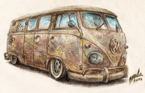 VW T1 bus by NOzols