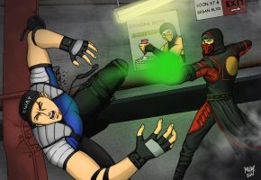Ermac vs Stryker 2 by Grace-Zed