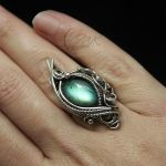 ANAVINTARH - silver and labradorite ( ring ) by LUNARIEEN
