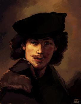 Rembrandt Self Portrait Study by shaunamobley
