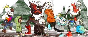 Undertale AU - Chillin' with the bros by Arinna1
